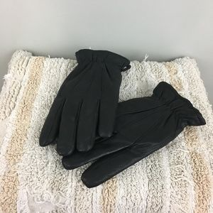 Dockers Black Leather Winter Gloves